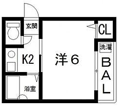 ランドハウス[201号室号室]の間取り