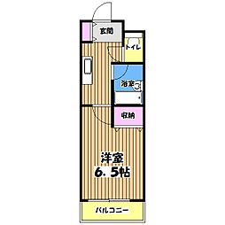 武蔵野コーポ2[2階]の間取り