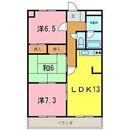 HIGASHIYAMA[205号室]の間取り