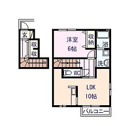 サンフォレスト C棟[2階]の間取り