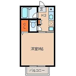 久保田ハイツ1号館[207号室]の間取り
