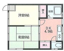 青木アパート[2階]の間取り