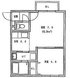 仮)北14条東1丁目MS[206号室]の間取り