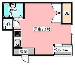 元浜グリーンホームズ[4階]の間取り