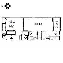 京阪本線 淀駅 バス9分 藤和田下車 徒歩3分の賃貸アパート 3階1LDKの間取り