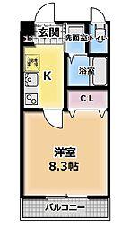 大阪府門真市常称寺町の賃貸マンションの間取り