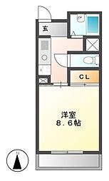 クラフトアルス[3階]の間取り