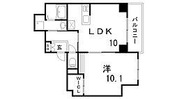 兵庫県神戸市中央区東雲通1丁目の賃貸マンションの間取り