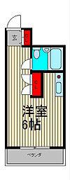 スカイコート西川口[5階]の間取り
