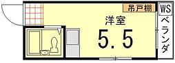 藤田ハイツ[203号室]の間取り