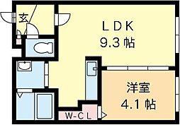 北海道札幌市中央区南四条西15丁目の賃貸マンションの間取り