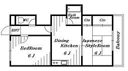 千葉寺マンション[3階]の間取り