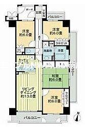 サーパス津高台通り二番館[5階]の間取り
