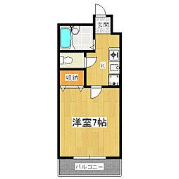 エクセレント山田[1階]の間取り