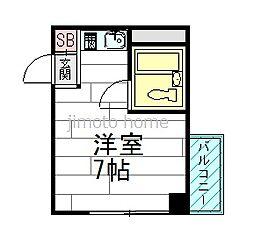 スリジエ箕面[2階]の間取り