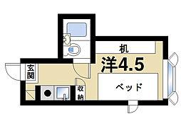 奈良県奈良市坊屋敷町の賃貸マンションの間取り