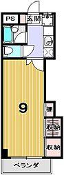 学生の家紫野[406号室]の間取り