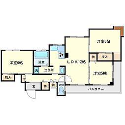 レジデンス藤白台[1階]の間取り