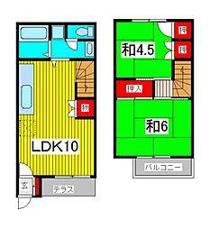 [テラスハウス] 埼玉県さいたま市浦和区神明2丁目 の賃貸【/】の間取り