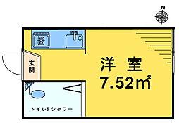 ライブコア中井[202号室]の間取り