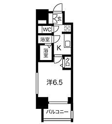 ファステート名古屋ラプソディ  (ファステートナゴヤラプソデ 5階1Kの間取り