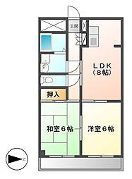 藤二番館[2階]の間取り
