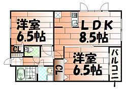 高峰第6晴和ビル[1階]の間取り