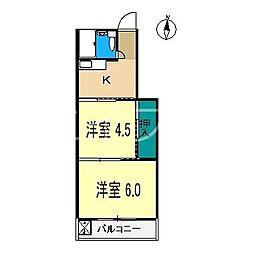 藤本マンション(高須新町)[3階]の間取り