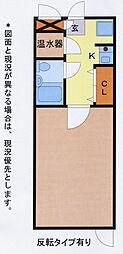 埼玉県久喜市高柳の賃貸アパートの間取り