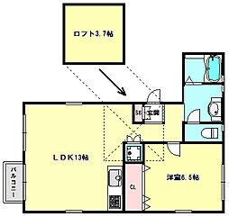 兵庫県神戸市東灘区甲南町4丁目の賃貸アパートの間取り