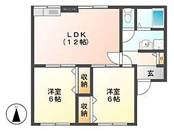 Kita壱番館 C棟[2階]の間取り