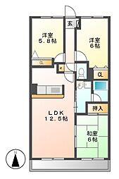 ピアネーズ神ノ倉[1階]の間取り