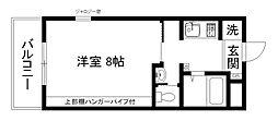 京都府京都市東山区本町19丁目の賃貸マンションの間取り