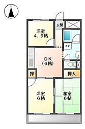 メゾン和幸[4階]の間取り