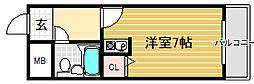 パークサイド堺[4階]の間取り