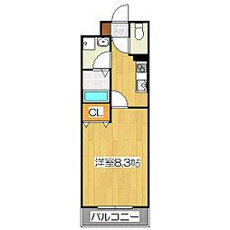 シェルフェリス[2階]の間取り