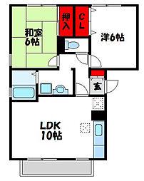 エスポアール18 B棟[203号室]の間取り