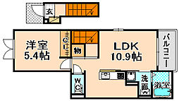 兵庫県伊丹市桑津2丁目の賃貸アパートの間取り