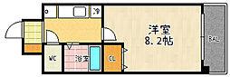 パラシオン京都[601号室]の間取り