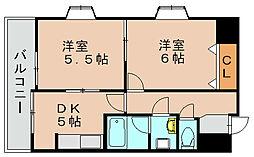 ビッグアップル[6階]の間取り
