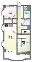 かさまビル9[4階]の間取り
