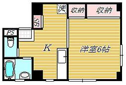 高マンション[3階]の間取り