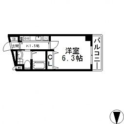 Celeb布施東(セレブ)[8階]の間取り