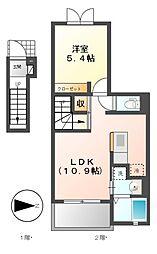 リンデンII[1階]の間取り