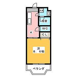 メゾンカネブン[1階]の間取り
