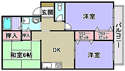 紙屋ハウス3番館C[101号室]の間取り