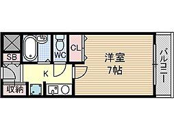 ハイツ志貴[4階]の間取り