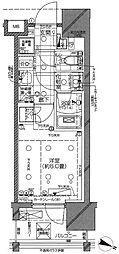 京王井の頭線 神泉駅 徒歩5分の賃貸マンション 8階1Kの間取り