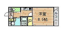 エムズコート小阪[302号室]の間取り