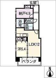 スカイピア大須[3階]の間取り